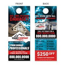custom designed door hangers quality prints free shipping