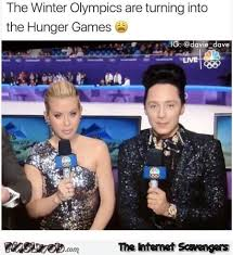 Hunger Games Funny Memes - the winter olympics are turning into the hunger games funny meme
