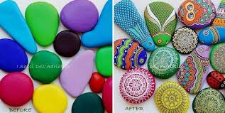ideas diy painted stones and pebbles