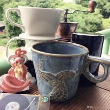 Ceramic Coffee Mugs Genuine Starbucks The Tail Of Siren Fish Tail Mug 12oz 2016