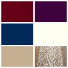 wedding color scheme burgundy plum navy ivory and khaki with