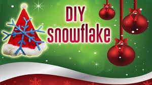 diy christmas decorations how to make 3d paper snowflakes for