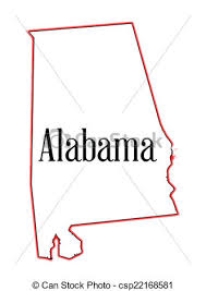 us map outline eps state map outline of alabama a white background vector