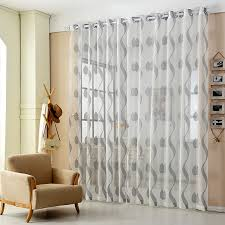Striped Living Room Curtains by Aliexpress Com Buy Tulle Window Curtain Fabric Gold Striped