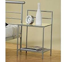bedside table amazon glass night stands new amazon com coaster contemporary modern stand