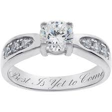 personalized rings for personalized sterling silver cubic zirconia promise ring walmart