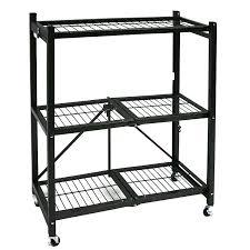Metal Shelves For Storage Amazon Com Origami General Purpose Steel Storage Rack With Wheels