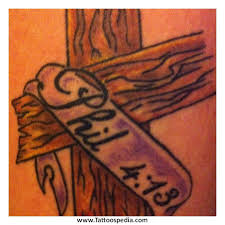 philippians 4 13 tattoo with cross tattoo collections