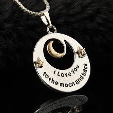 love star necklace images Trendy alloy moon and star pendant necklace mother 39 s day gifts quot i jpg