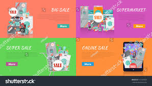 Kitchen Collections Store Sale Electronics Store Concepts Big Collection Stock Vector