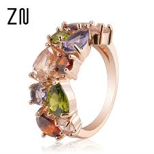 hypoallergenic metals for rings colorful rhinestone ring hypoallergenic copper gold