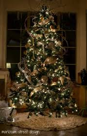 decorating tree trees with ribbon decorated