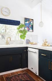 electric blue kitchen cabinets navy kitchen cabinets eclectic kitchen farrow and
