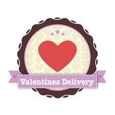 valentines delivery badge design valentines delivery butterly design