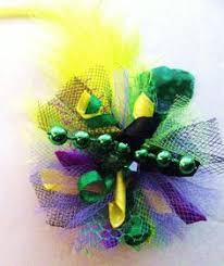 mardi gras bow mardi gras hair bow pink hair bow boutique mardi