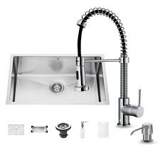 Undermount Kitchen Sink With Faucet Holes Vigo All In One Undermount Stainless Steel 30 In 0 Hole Single