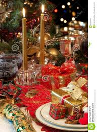 baby nursery tasty traditional christmas table setting stock