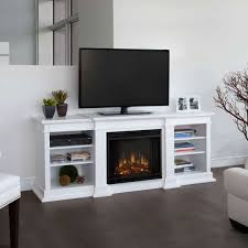 electric fireplace idea under television modern fireplace design