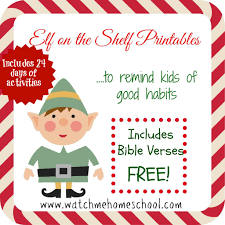 elf on the shelf printables that instill good habits with bible