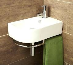 corner bathroom sink vanity units corner oak cabinet with basin