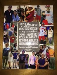 2 year wedding anniversary gifts for him 2 year anniversary collage anniversary ideas