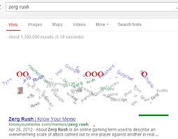 Zerg Rush Know Your Meme - 20 amazing facts about google search