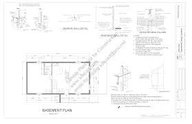 136 45 x 23 hillside cabin plans blueprints construction drawings