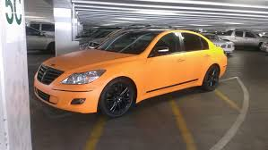 matte orange maserati hyundai genesis matte orange u2014 incognito wraps