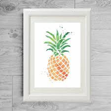 affiche deco cuisine affiche ananas poster ananas affiche cuisine poster cuisine