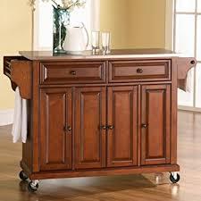 Amazoncom Crosley Furniture Rolling Kitchen Island With - Rolling kitchen island table
