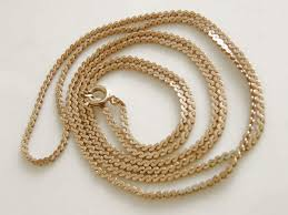 vintage necklace chains images Vintage dainty flat s chain link necklace 28 inch gold tonesold2 JPG