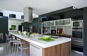 cuisine ouverte moderne cuisine ouverte moderne avec americaine et exemple de aménagée