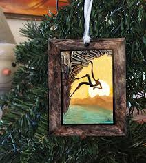rock climbing ornament chalk it up by artist alders