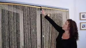 room divider beads wooden beaded curtains shopwildthings demo video youtube