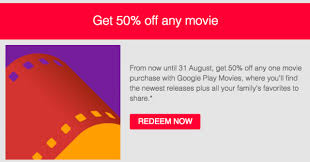 deal get 50 off any movie from google play movies after signing