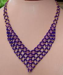 necklace patterns with beads images Free beaded necklace patterns la necklace jpg