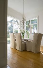 Linen Slipcovered Dining Chairs Slipcovered Dining Chairs Dining Room Yawn Design Studio