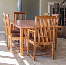 mission style dining room set mission style table and chairs leather parsons dining chairs