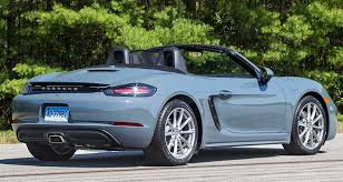 porsche boxster roof problems 2017 porsche 718 boxster adds might and refinement consumer reports