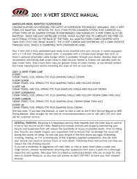 manitou answer 2001 x vert service manual