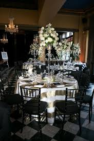 table and chair rentals mn beautifully bold black and gold wedding at cafe bar lurcat in
