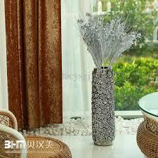 modern silver floor l ceramic modern ceramic home decoration silver rose large floor vase