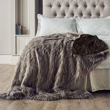 Faux Fur Bed Throw Alison Cork Luxury Tipped Faux Fur Throw Page 1 Qvc Uk