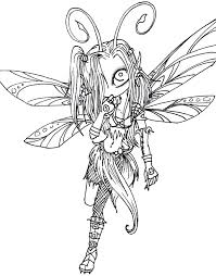 coloring pages dark fairy lines for luna by