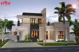 slanted roof house modern mix sloped roof house plan kerala home design and floor