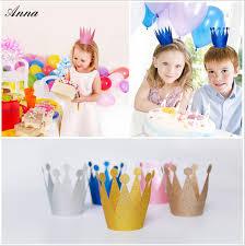 baby shower hat 6 pcs lot anak dewasa topi mahkota perlengkapan pesta ulang tahun