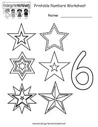 kindergarten printable numbers worksheet printable worksheets