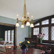 Tudor Chandelier Dining Room In Circa 1905 Tudor Style Home Lit With Gas Electric