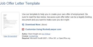 company offer letter template 9 websites to get free job offer letter template