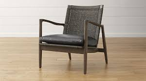 Crate And Barrel Office Chair Mid Century Lounge Chair With Leather Cushion Crate And Barrel